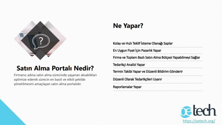 satın alma portalı, satın alma takibi, e-ihale, satın alma programı